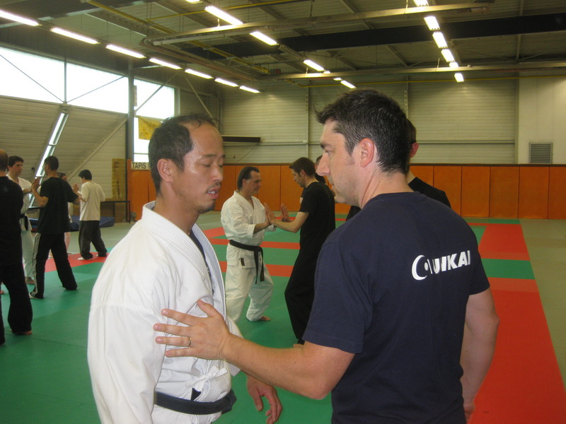 Aunkai MasterClass Paris avril 2009 Minoru Akuzawa and me